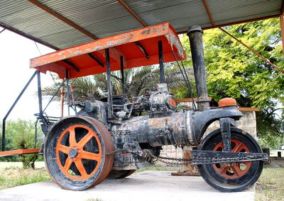 "Steam roller at the ""Alte Fort Museum"" in Grootfontein.  Photo: Sven-Eric Stender"